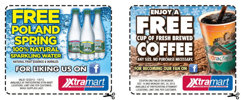 free sparkling water and coffee printable coupon at xtra