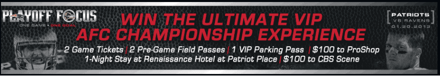 Win Patriots AFC Tickets 13