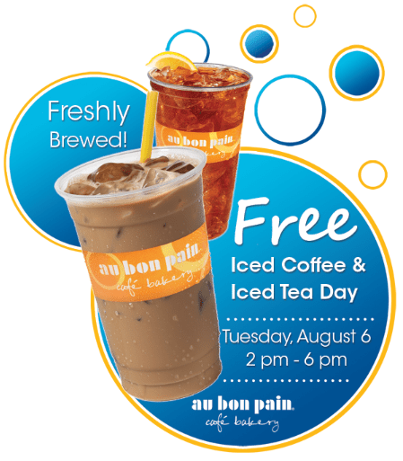 Au Bon Pain Free Iced Tea Day