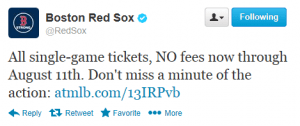 Red Sox Twitter August