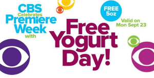 CBS Free Yogurt Day 9.23.13