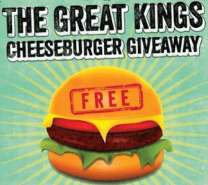 Kings Cheeseburger Giveaway