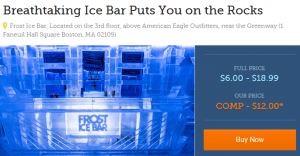Frost Ice Bar Goldstar Boston