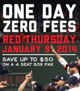 No Ticket Fees Red Sox