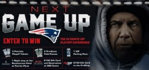 Patriots Playoff Experience Giveaway 2014