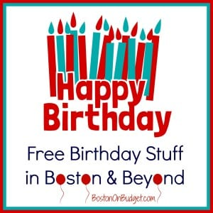 Birthday Freebies Boston