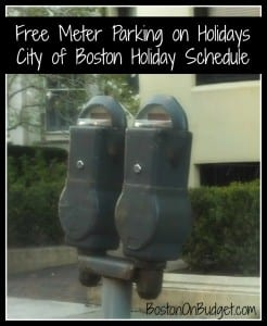 Boston Meter Parking Holidays