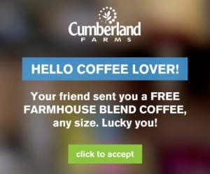 Free Cumberland Farms Farmhouse Blend Coffee for a friend