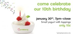 Pinkberry 10th Anniversay 2015