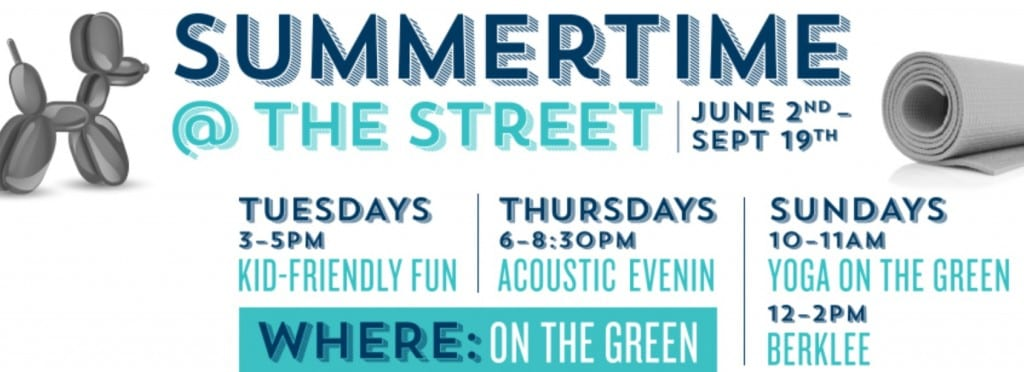 Summertime at the Street in Chestnut Hil, MA