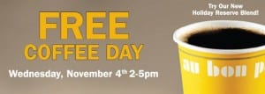 au bon pain free coffee day