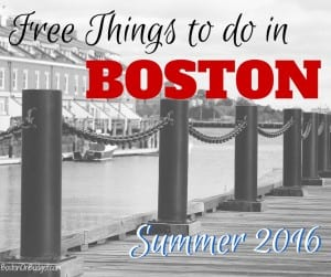 Boston Summer 2016 Things to Do for Free