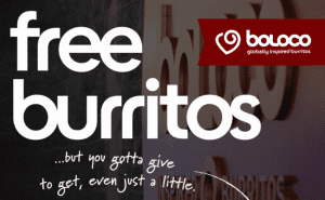 Free Burritos at Boloco in Boston