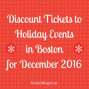 Discount Tickets to The Nutracker and Holiday Events in Boston