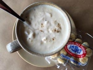 clam chowder at legal sea foods boston