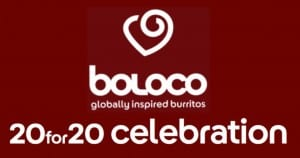 Boloco 20 Discount for 20 Years