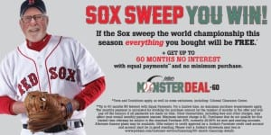 Jordan's Furniture 2017 Red Sox Promo