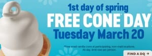free dq cone day