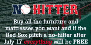 Red Sox Promotion at Jordan's Furniture
