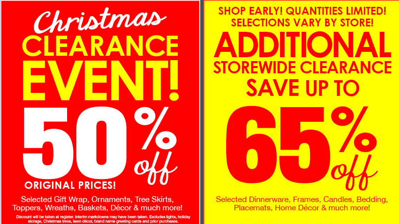 New Printable Coupon for the Christmas Tree Shop + Holiday Clearance ...