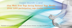 Free Yoga Month Card