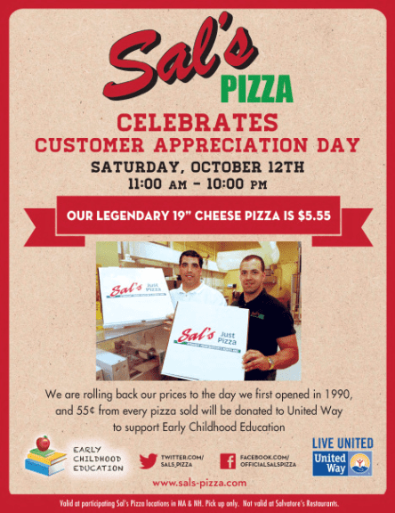 Sals Pizza Deal
