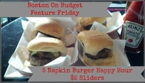 FF 5 Napkin Burger Happy Hour