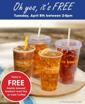 Free Iced Tea Au Bon Pain