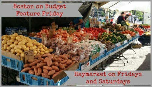 Haymarket Produce stand in boston