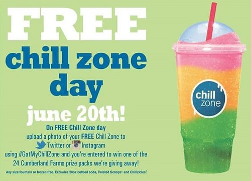 Free Chill Zone Day at Cumberland Farms