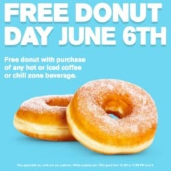 Free Donut Day on June 6, 2014