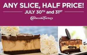 Cheesecake Factory Half Price Cheesecake 2014