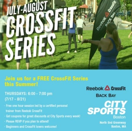 Free Crossfit at City Sports in Boston