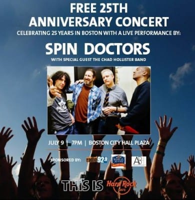 Spin Doctors Boston Summer 2014
