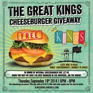 Kings Boston National Cheeseburger Celebration