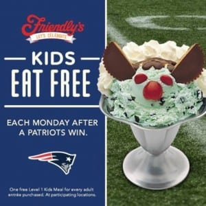 Friendly's Patriots Promo
