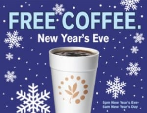 Free Coffee at Cumberland Farms NYE
