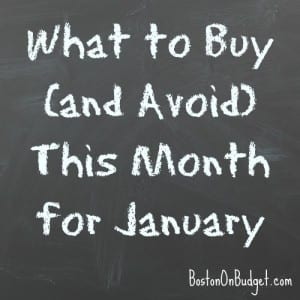 What to Buy and Avoid in January