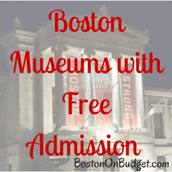 Boston Museums Free Admission Days