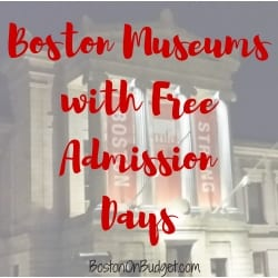 Free Admission Days at Boston Museums