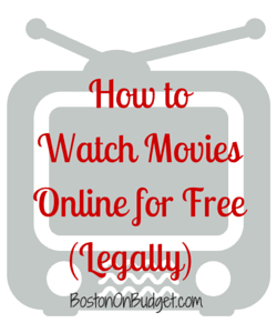 Where to Watch Movies Online For Free Legally