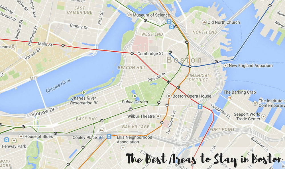 Boston Map for Best Places to Stay in Boston