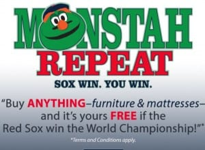 Jordan's furniture red sox promotion