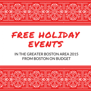 Free Holiday Events in Boston