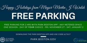 Free Parking in Boston 2015