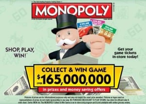 Monopoly Game 2016 Shaws
