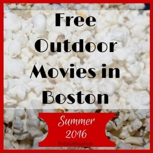 Outdoor Movie Screenings in Boston for Free