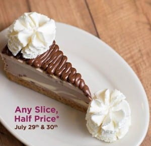 CCF Half Price Cheesecake