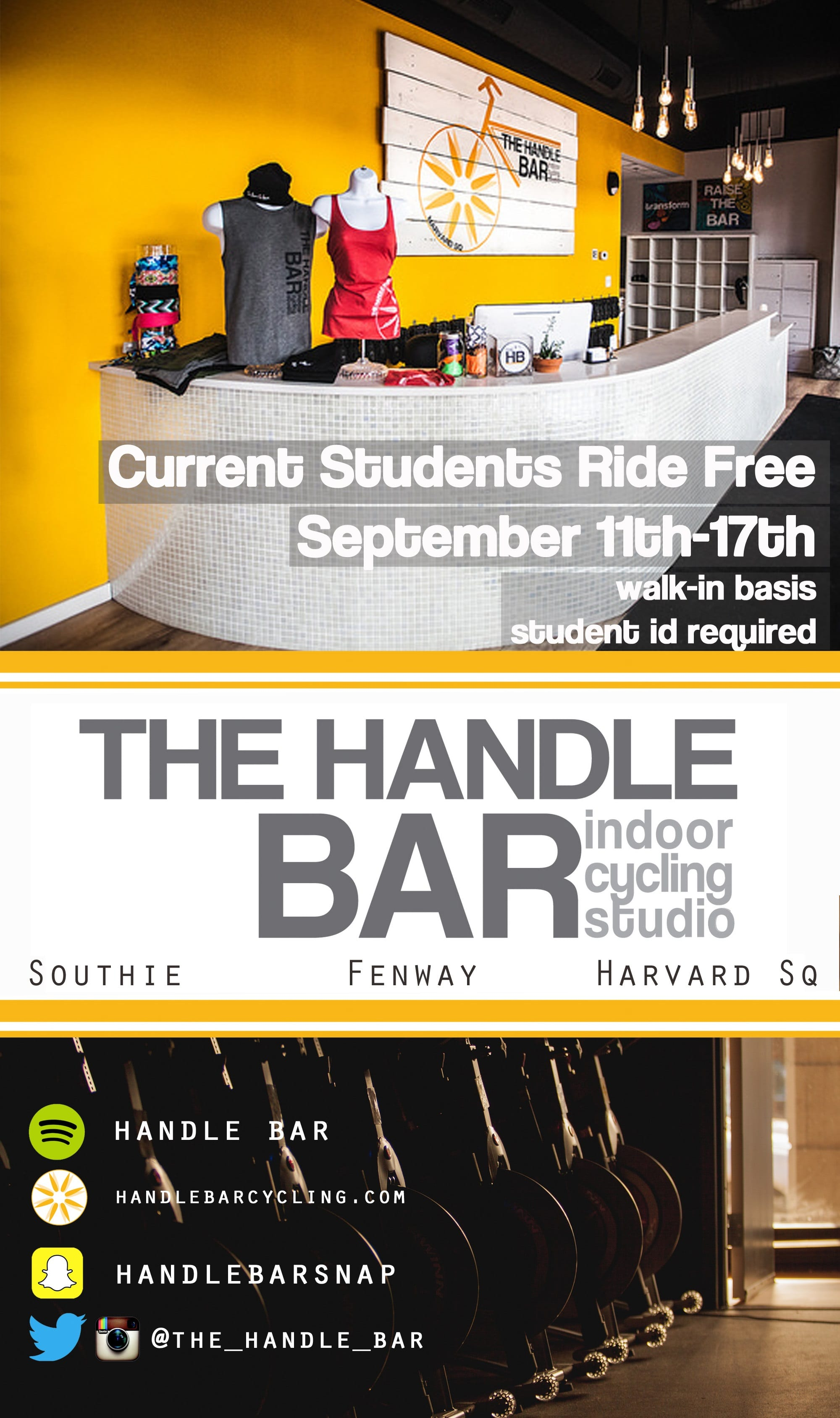 Handle Bar Boston College Promotion