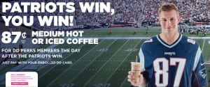 Patriots Gronk Dunkin Donuts